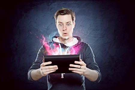 excite: Tablet PC Stock Photo