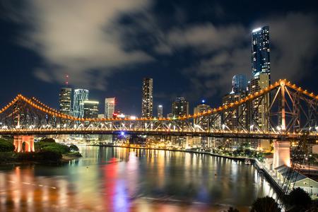 Brisbane bei Nacht Lizenzfreie Bilder