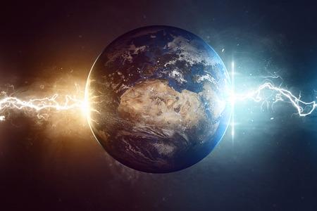 gamma radiation: Worlds End Stock Photo