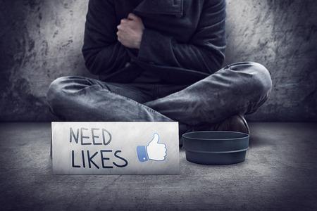 viral: Need Likes conceptual image
