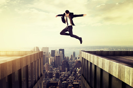 lider: Saltar Foto de archivo