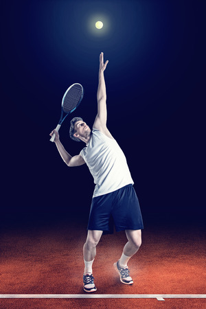 Tennis Serve Stockfoto