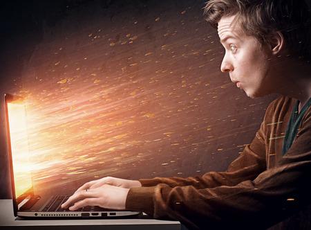 Notebook Explosion Foto de archivo