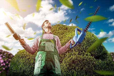 jardinero: Jardinero  Foto de archivo