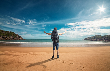 arrive: The perfect Beach Stock Photo