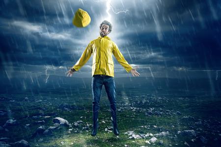 Man struck by lightning
