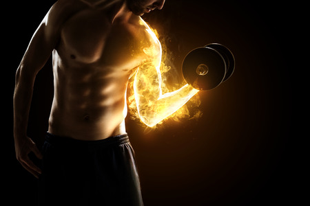 musculo: M�sculos Burning Foto de archivo