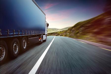 Truck and Skyline Foto de archivo