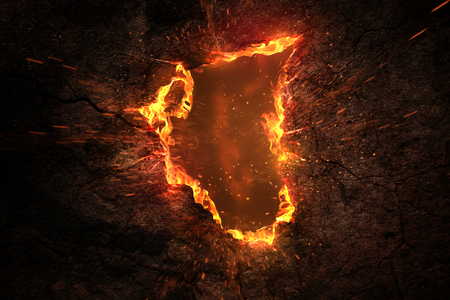 Fire Background Imagens - 75280652
