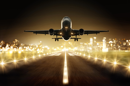 飛行機離陸時に