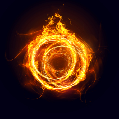 Anillo de Fuego Foto de archivo - 75549476