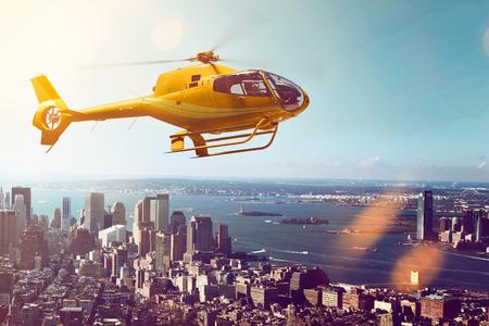Helicopter Flight Фото со стока