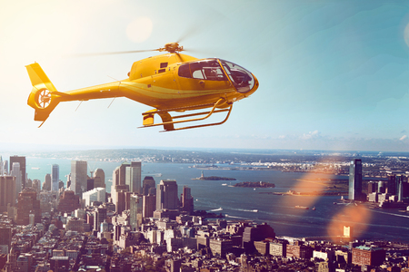 Helicopter Flight 版權商用圖片