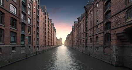 Hamburg, Speicherstadt Stockfoto