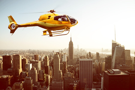 Helicopter over New York City