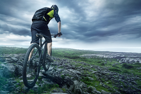 De fietser Stockfoto