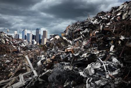Mountains of Trash Stock Photo