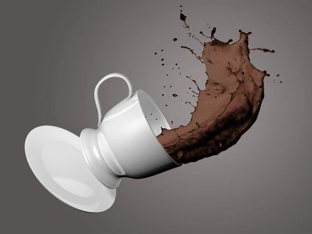 overthrow: Falling Coffee Cup Stock Photo