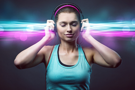 Sporty Woman with Headphones