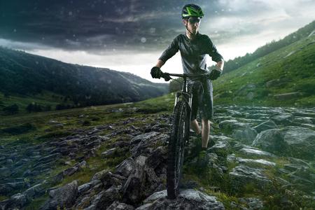 bicycle helmet: Exhausted Biker