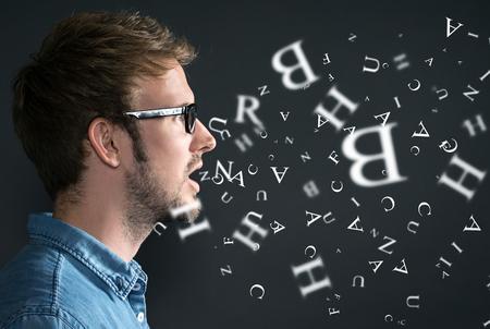 Guy speaks Standard-Bild