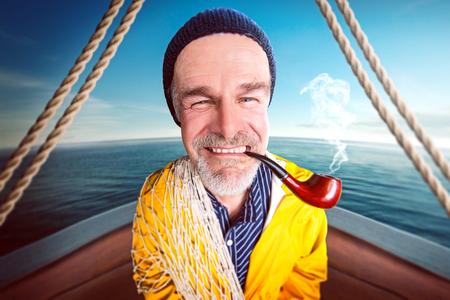 Funny Seaman Stock Photo