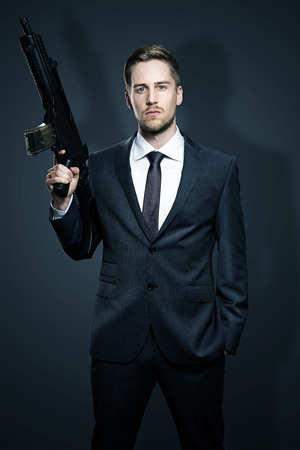 Weapons of a Businessman Stock Photo