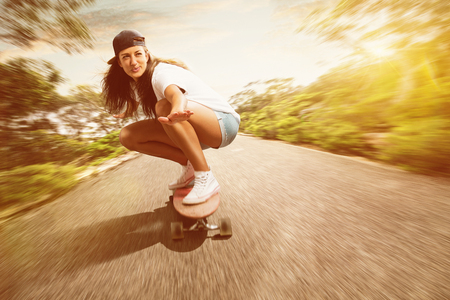 Woman on a Longboard