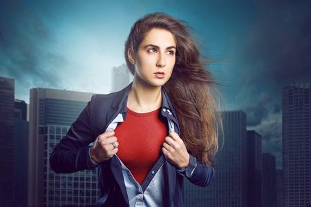 Superhero Woman Фото со стока