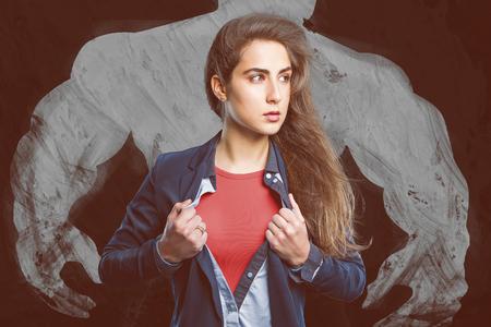 Hero Girl Reklamní fotografie
