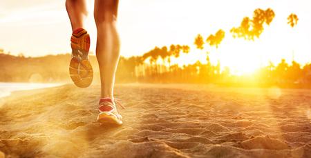 해변에서 달리기