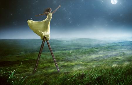 별에 도달하십시오.