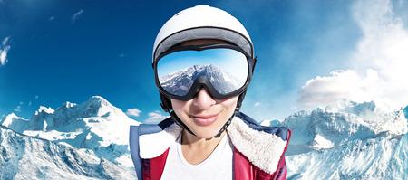 スキー場の女の子