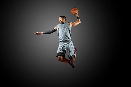 Basketball Player on Fire Stock Photo