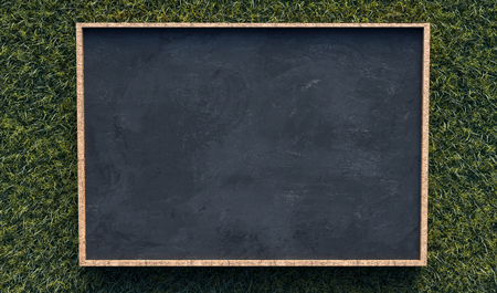 Blackboard on gras background 写真素材