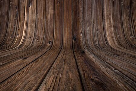 Bent wooden background