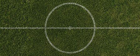 Soccer field center circle in stadium
