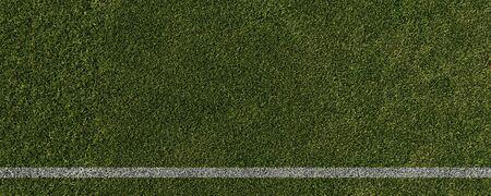 Line in soccer stadium (3D Rendering)