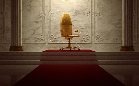 Office Chair Throne (3D Rendering)