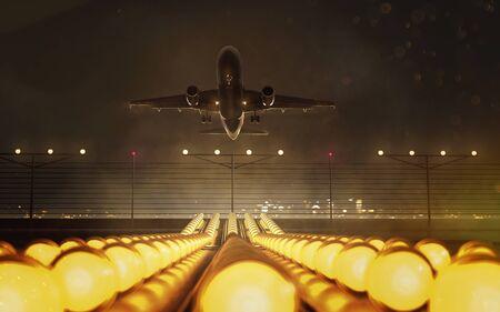 Plane takes off 写真素材