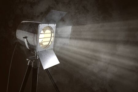 Stage light in front of smoke background (3D Rendering) 스톡 콘텐츠