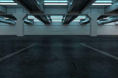 Fondo del aparcamiento