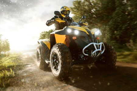 ATV on a forest path