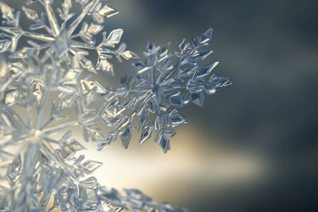 Ice crystal background (3D Rendering)