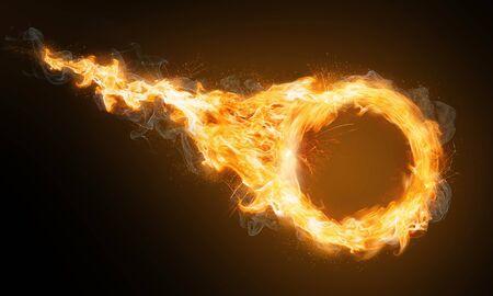 Anneau de feu avec traînée de flammes