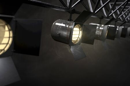 Stage lights (3D Rendering)