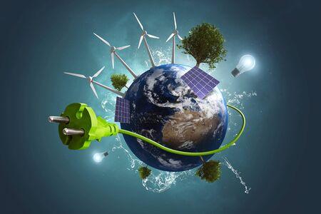 Green Energy World Фото со стока