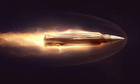 Flying bullet (3D Rendering)