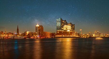 Hamburg Panorama with Elbphilharmonie Stock Photo