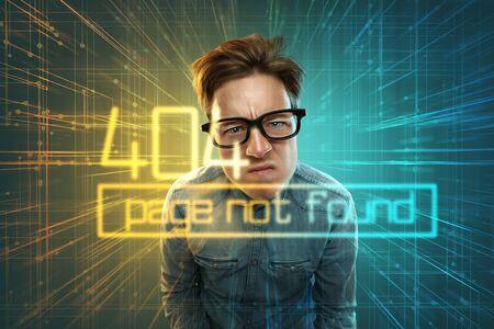 Nerd receives 404 error notification